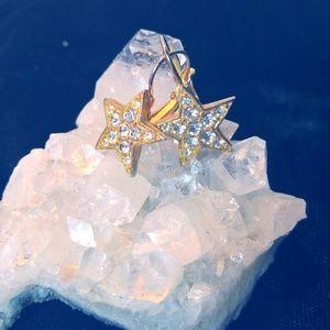 Jewelry - Crystal Gold Earrings
